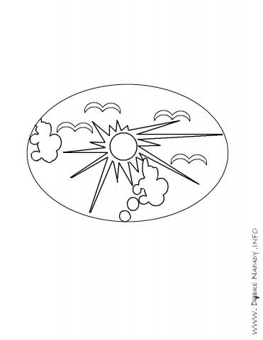 Veľkonočné vajíčko so slnkom